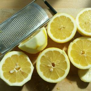 Lemons grated