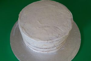 The Crumb: A thin coating of buttercream, before covering with fondant icing.