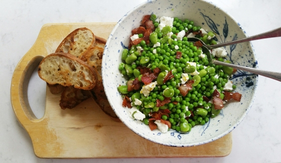 Broad bean and pea